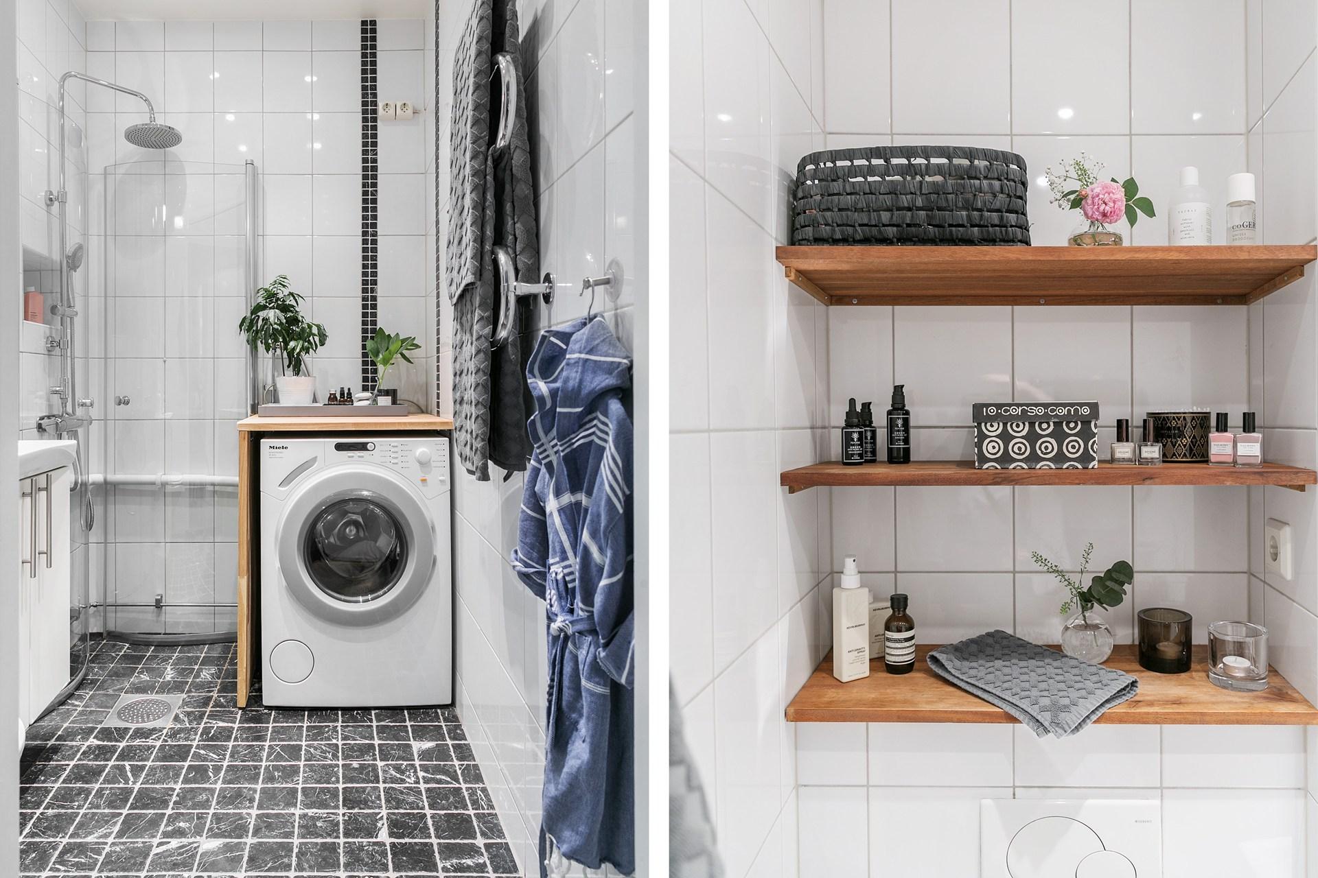 санузел душ раковина зеркало стиральная машина ниша полки