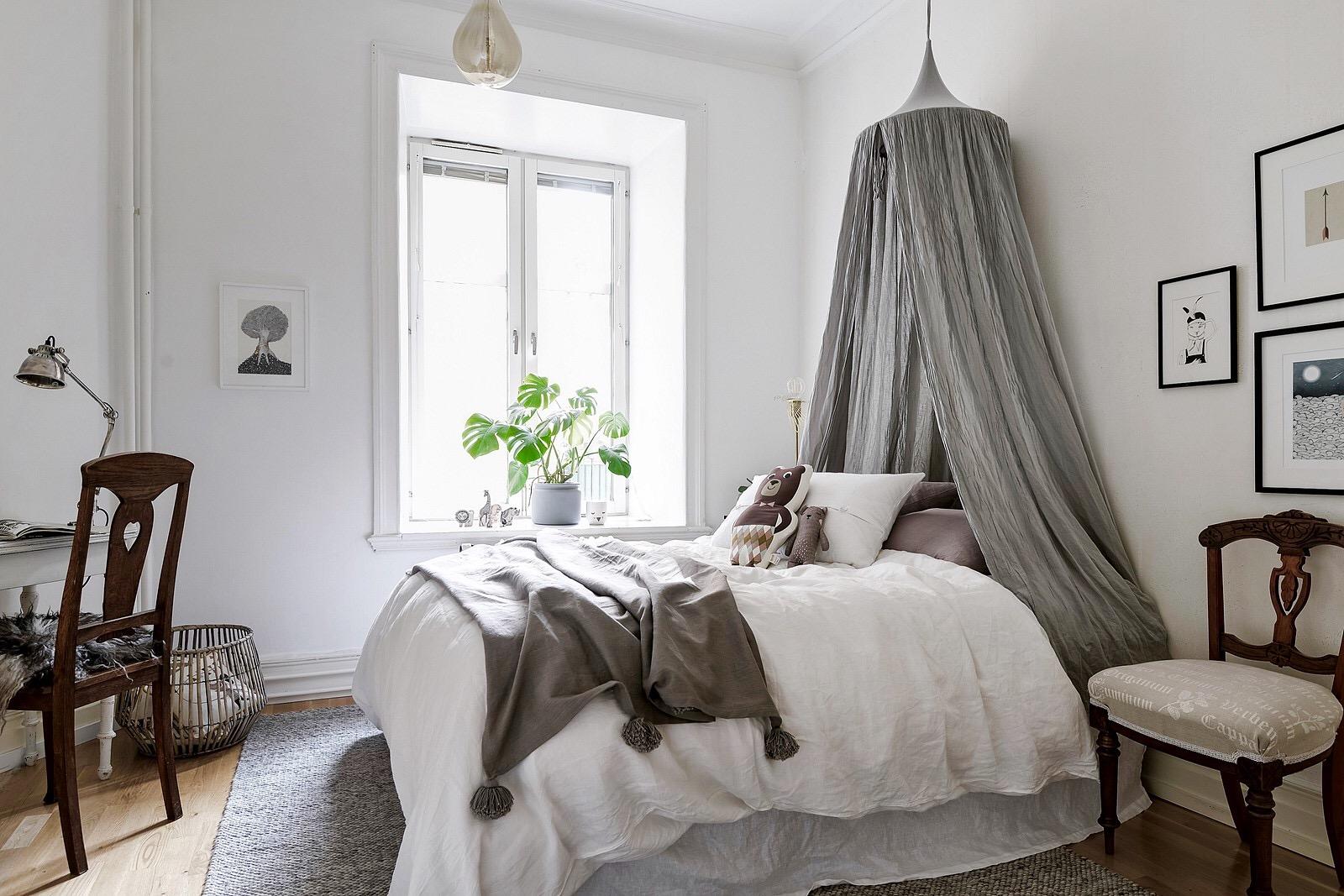 детская спальня кровать полог балдахин