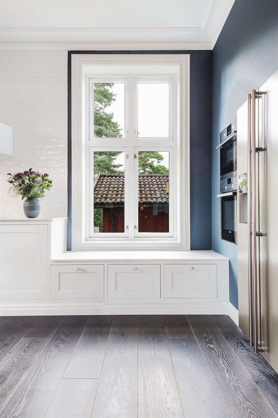 кухня окно кушетка с ящиками
