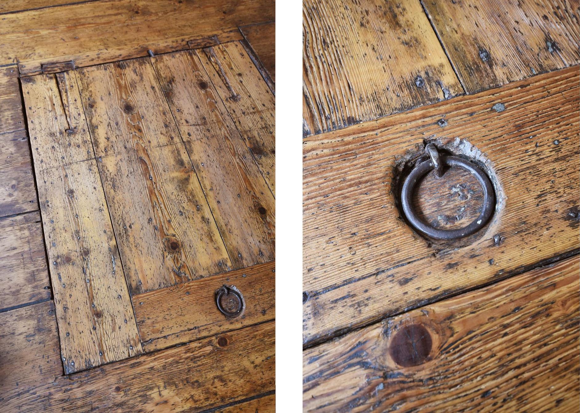 деревянный пол подполье