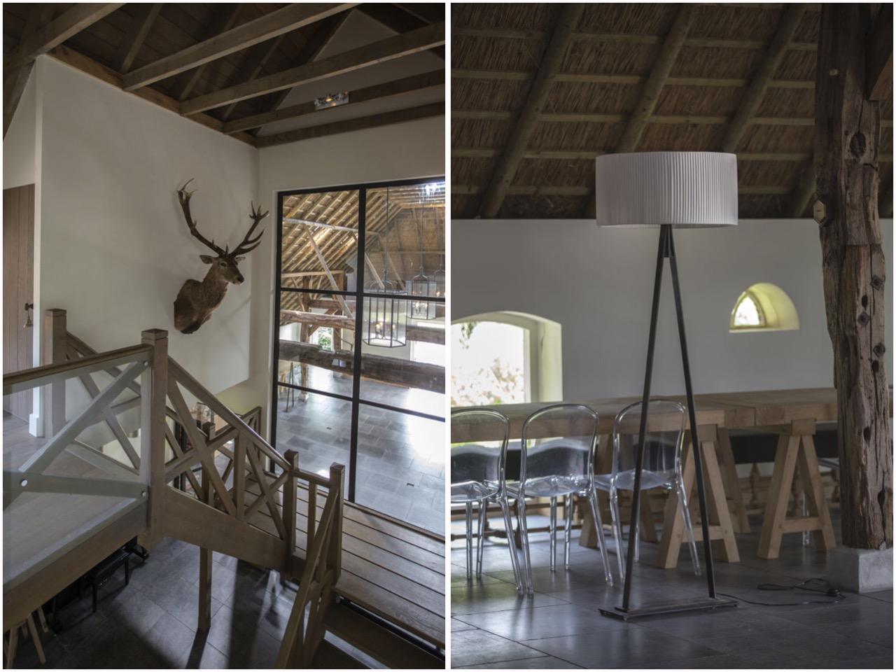 лестница остекление потолок крыша балки