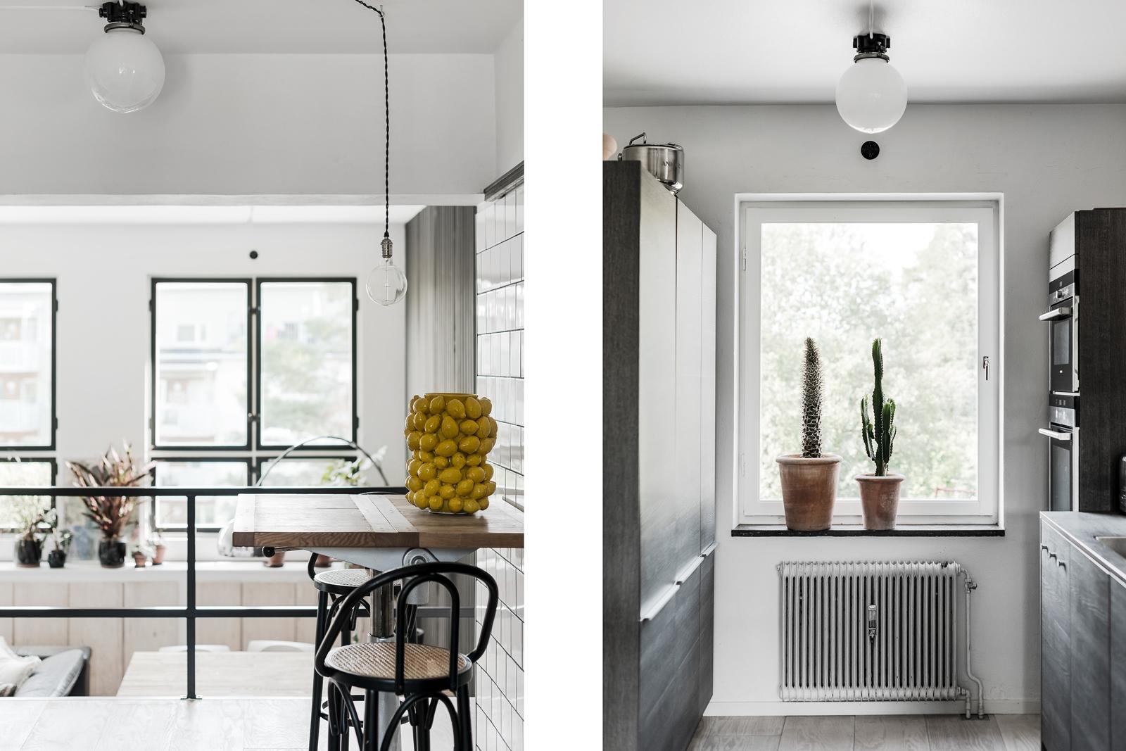 стол кухня встроенная техника окно