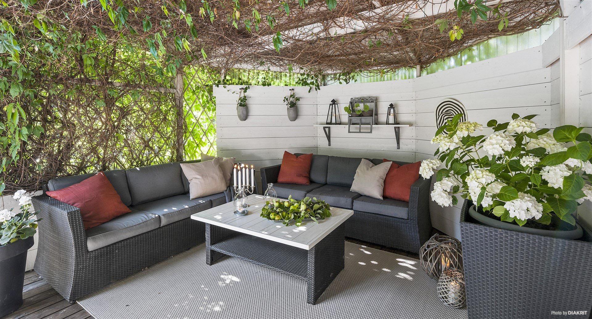 терраса уличная садовая мебель
