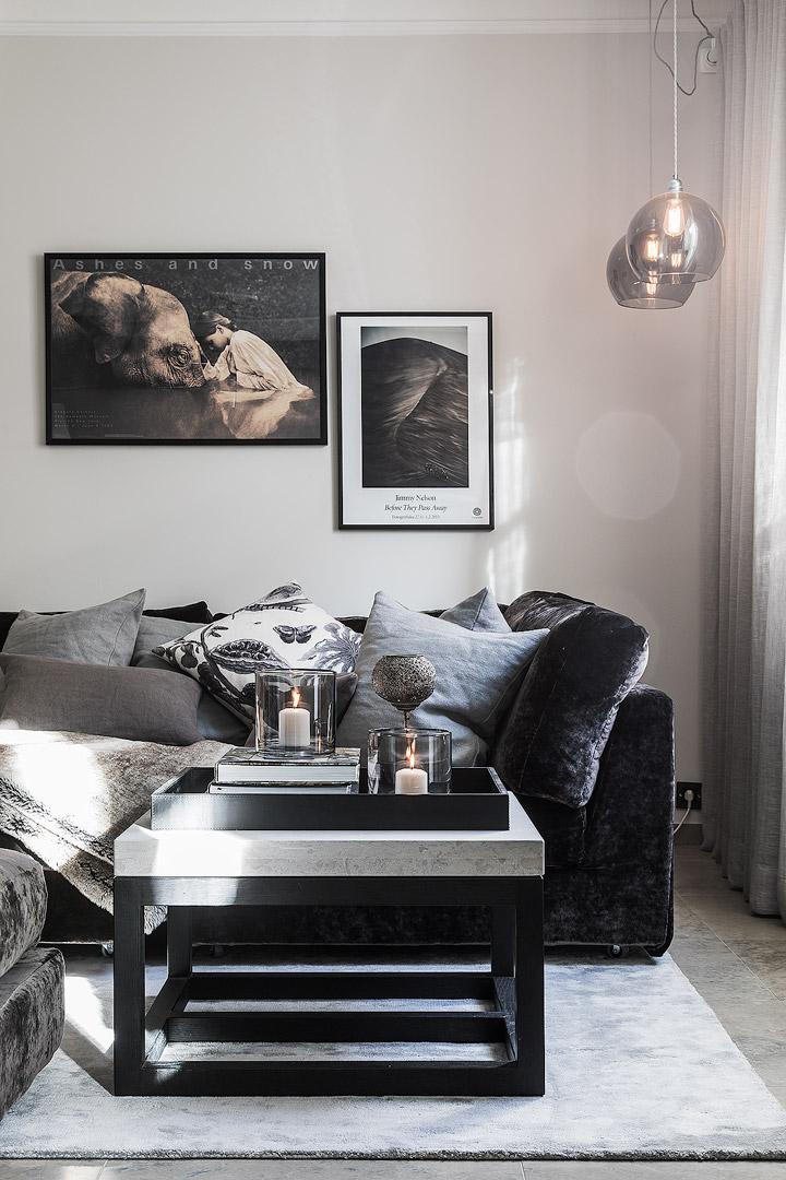 гостиная диван подушки