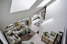 двухуровневая квартира высокий потолок окна