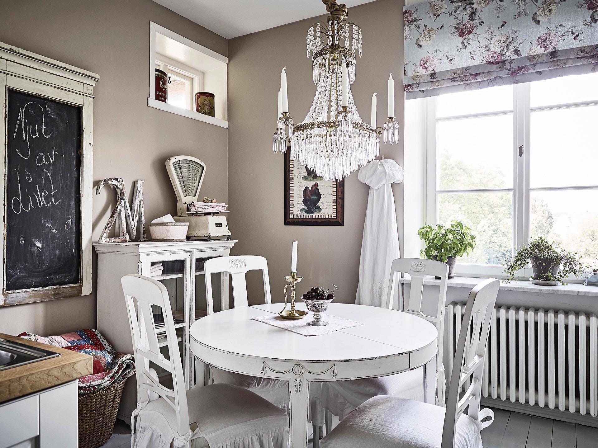 винтаж кухня обеденный круглый стол стулья