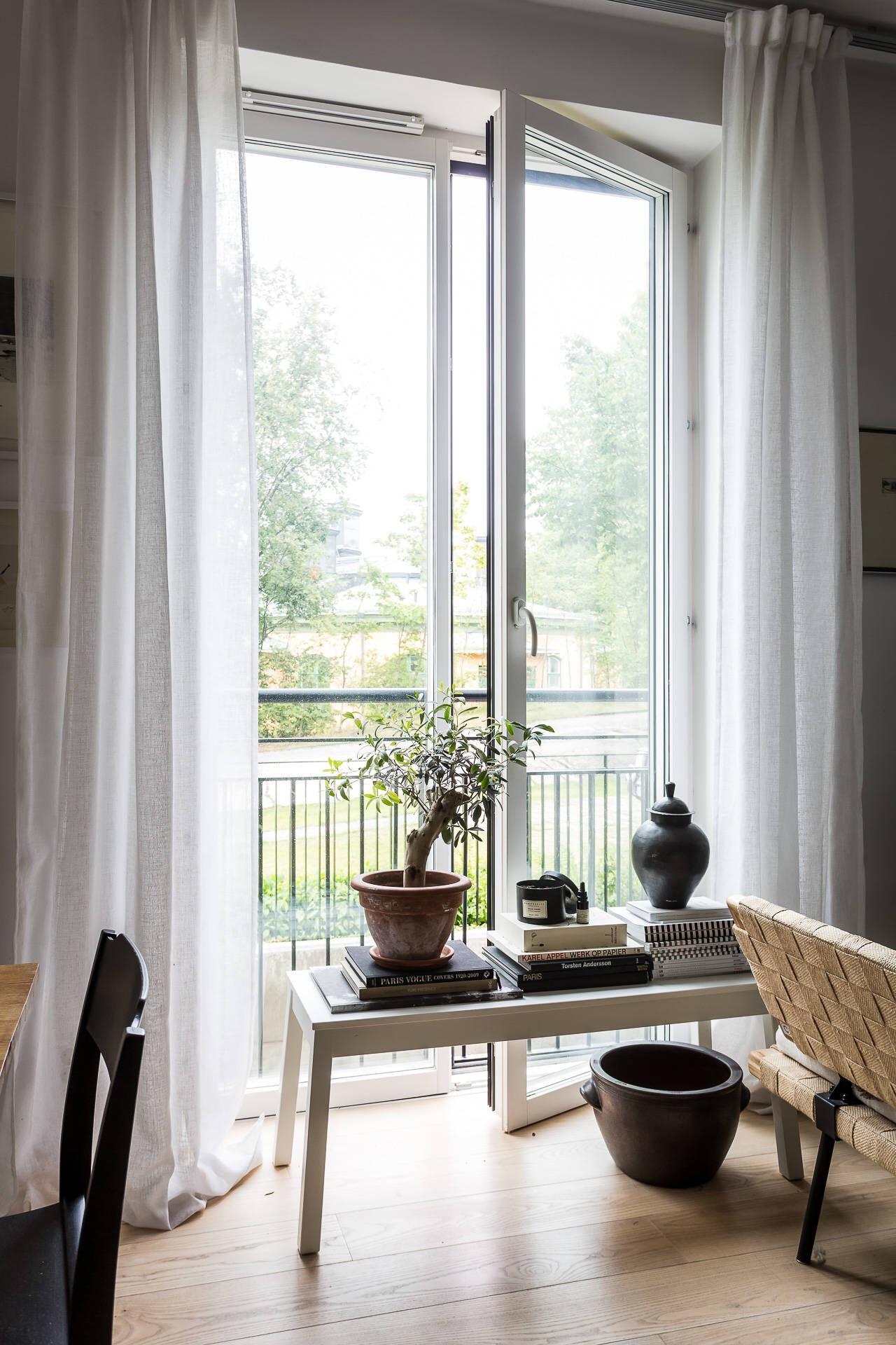 французские окна скамейка декор