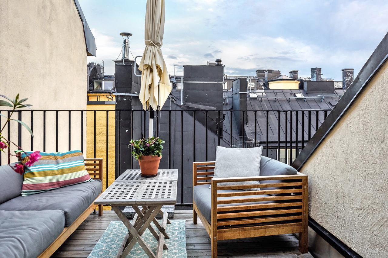 балкон терраса уличная мебель зонт