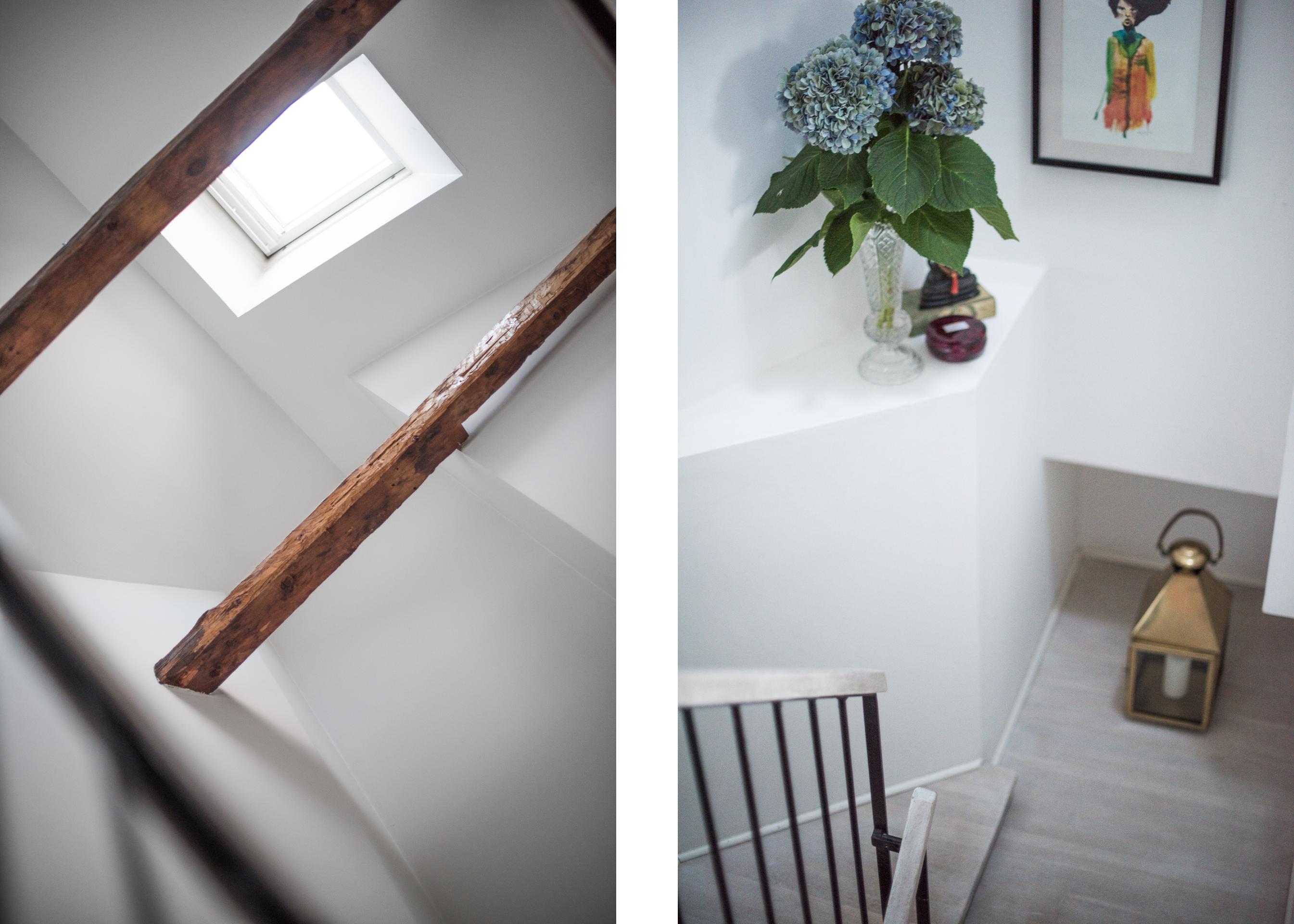 лестница ступени перила потолочные балки