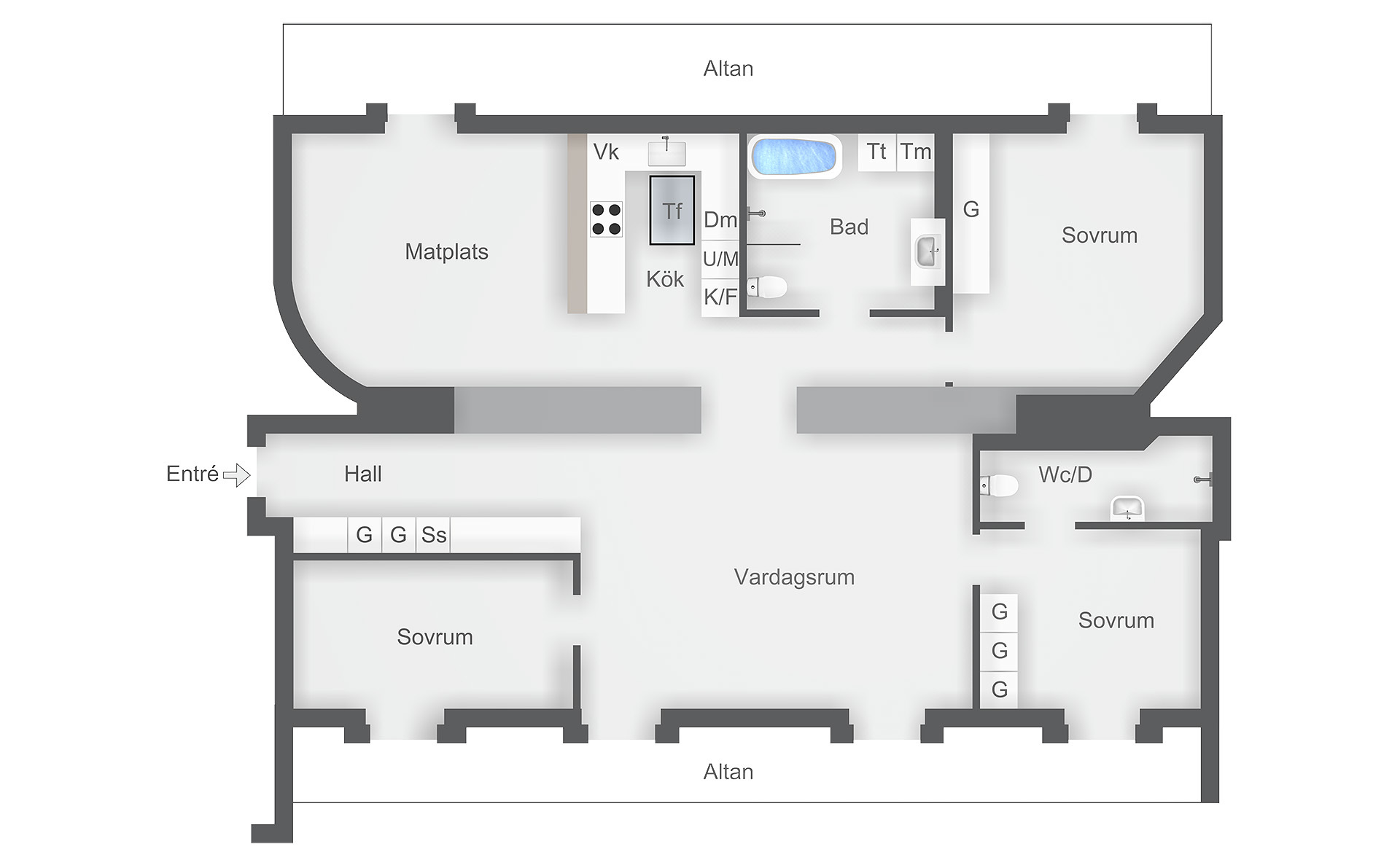 планировка квартиры мансарды