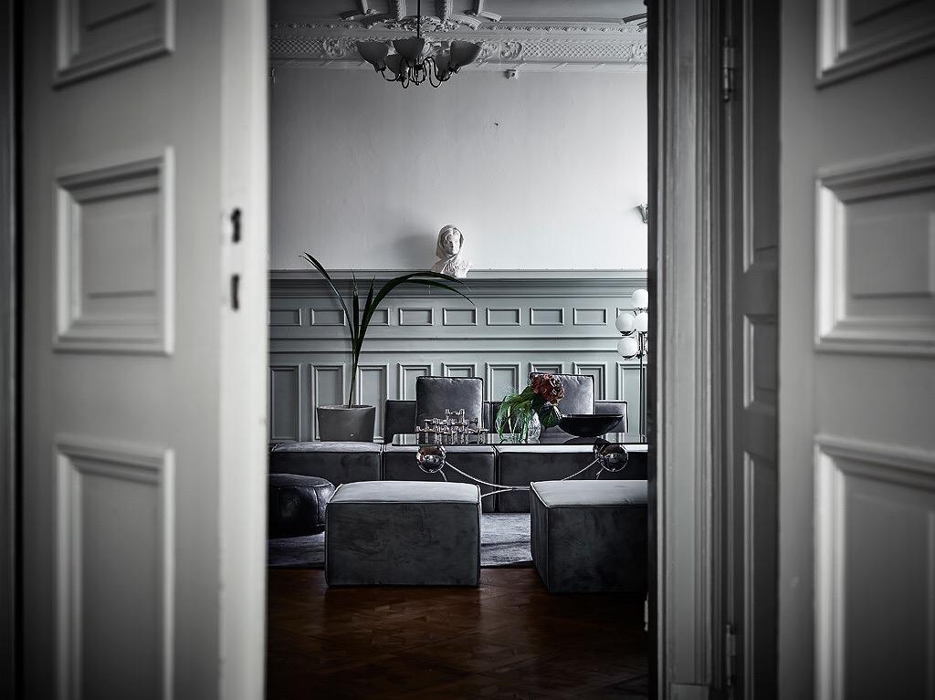 распашные двери гостиная