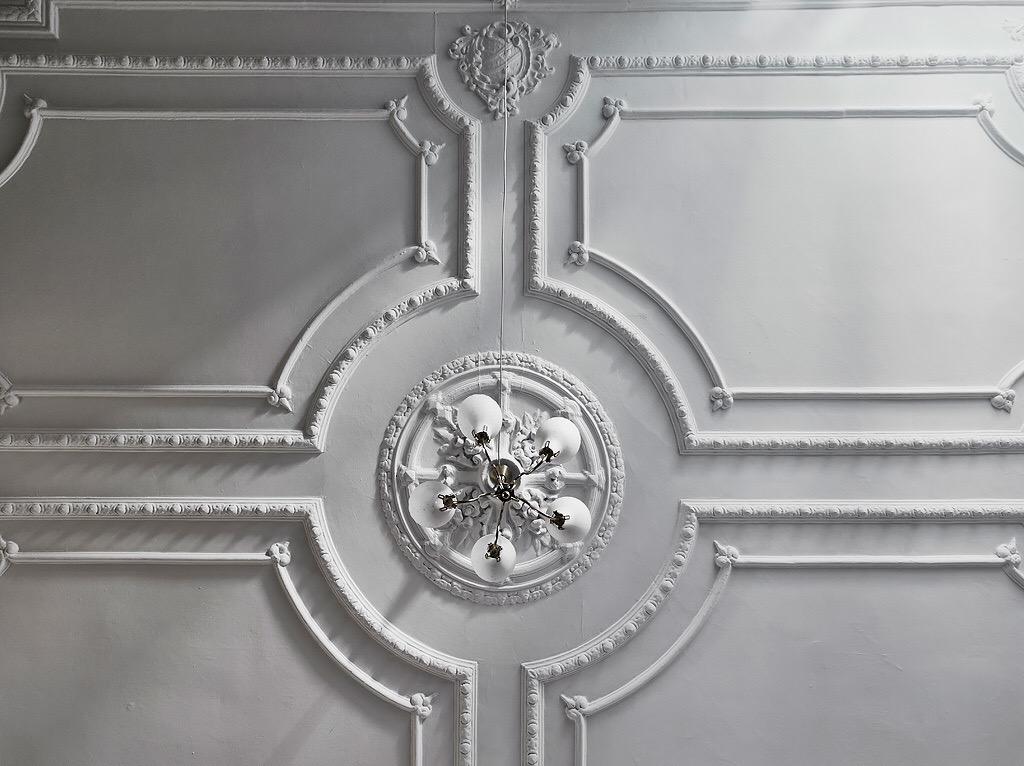 потолок лепнина потолочная розетка люстра