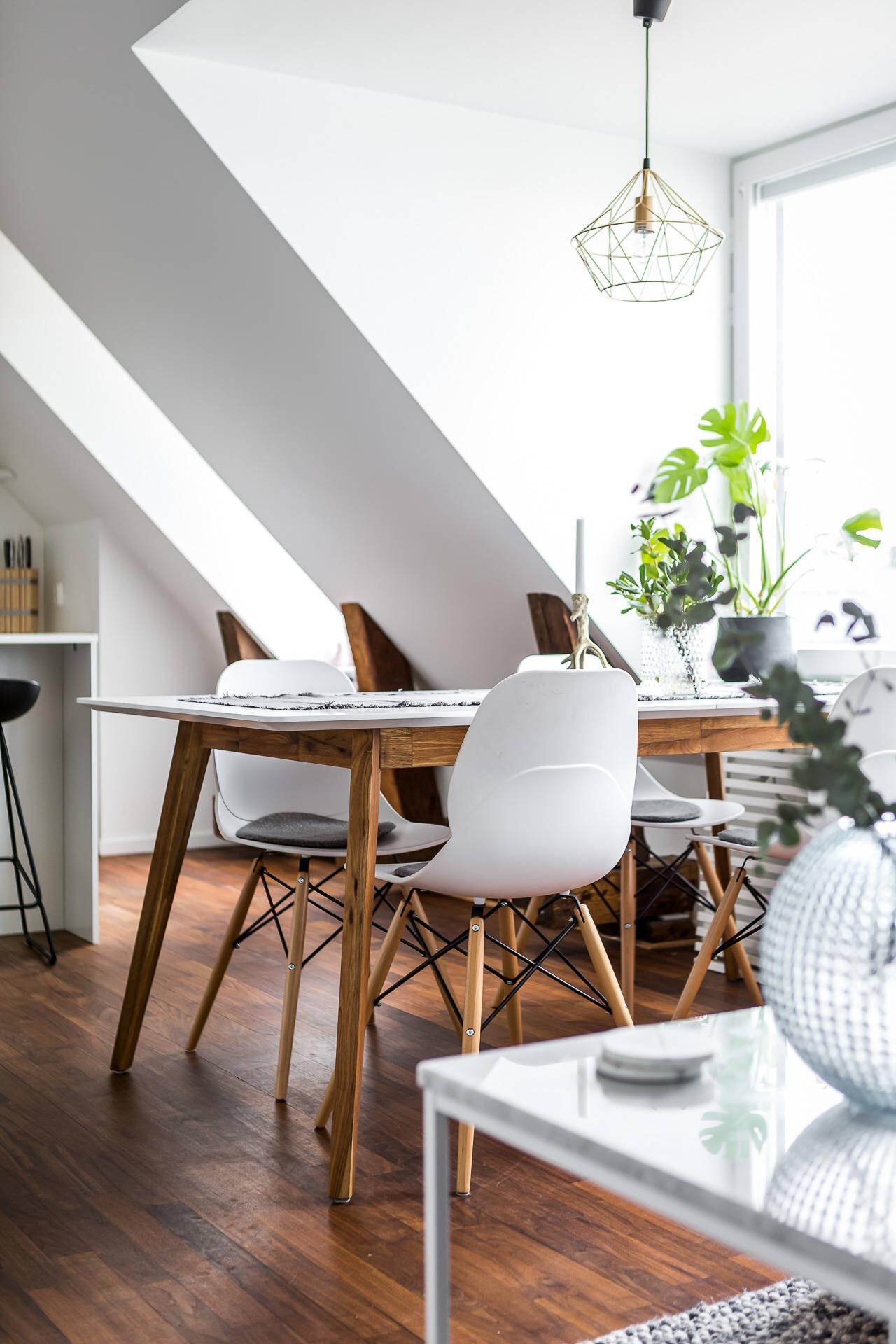 обеденный стол стулья eames