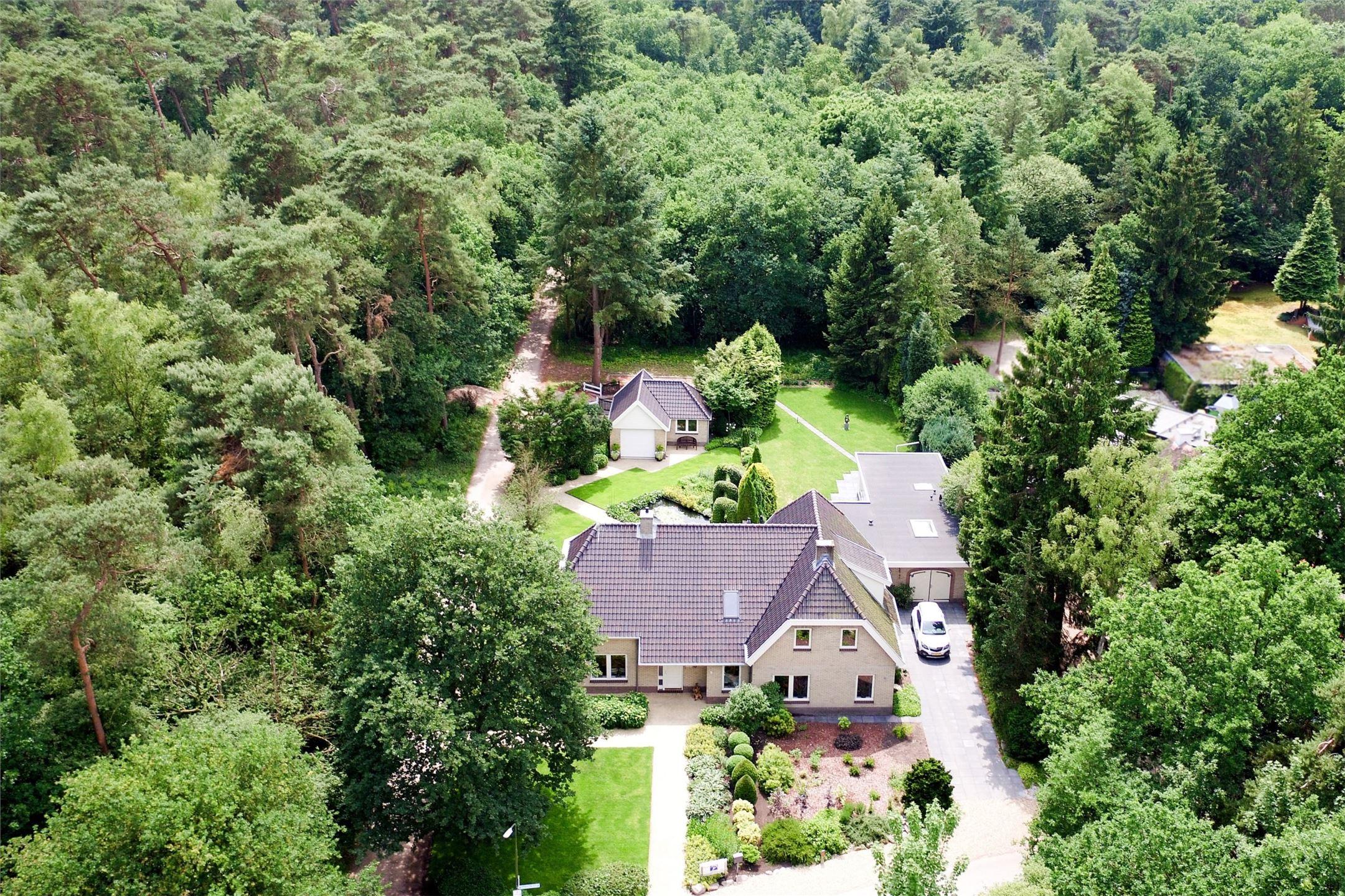 загородный дом участок ландшафт вид сверху