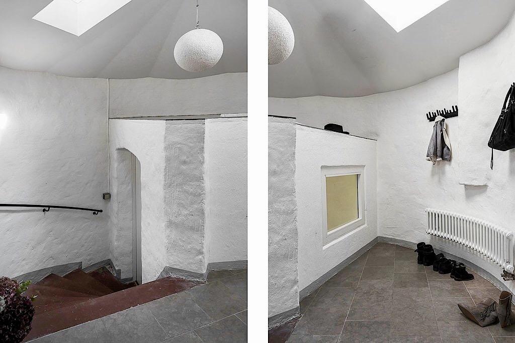 коридор радиатор отопления лестница ступени перила