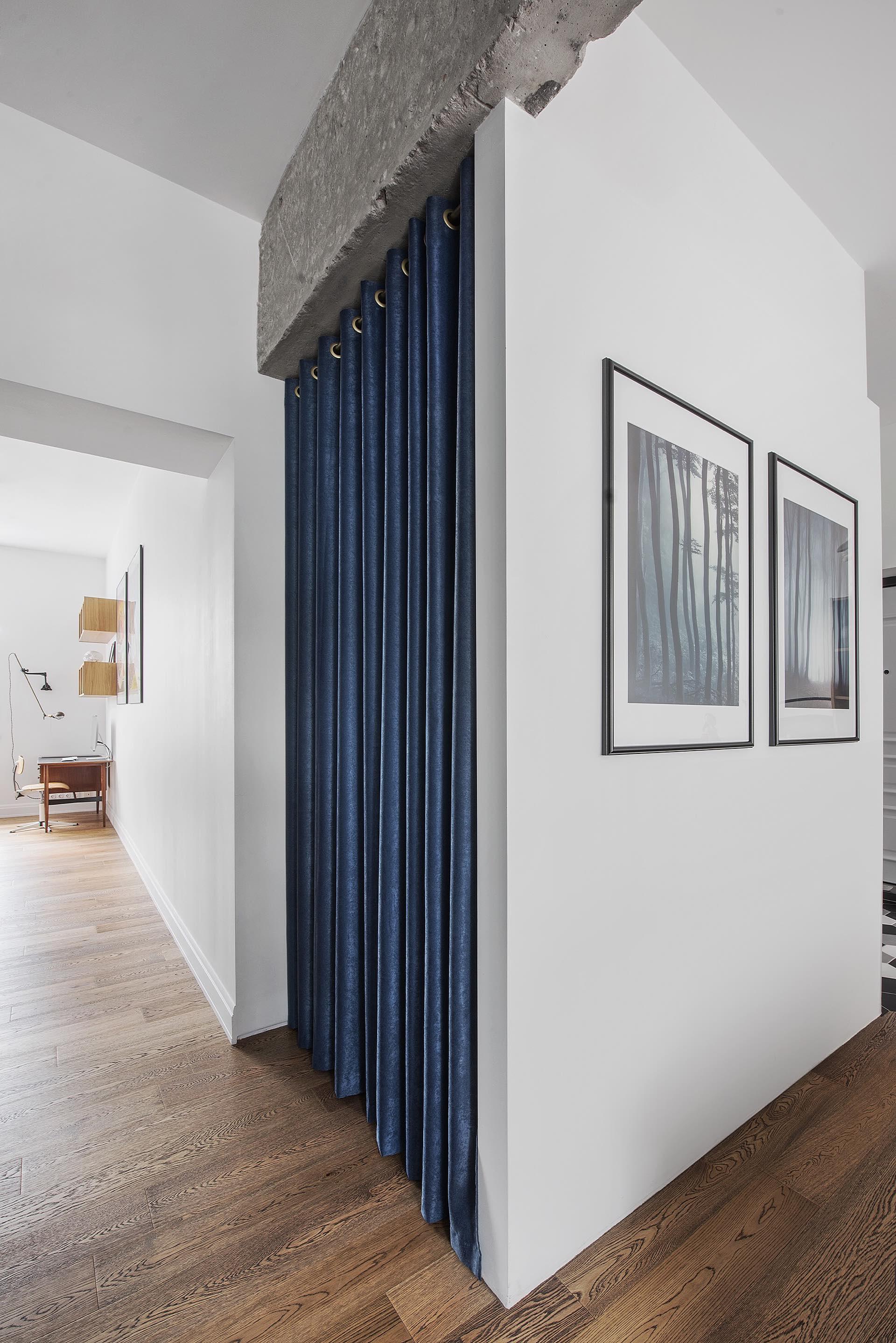 гостиная коридор ниша занавес