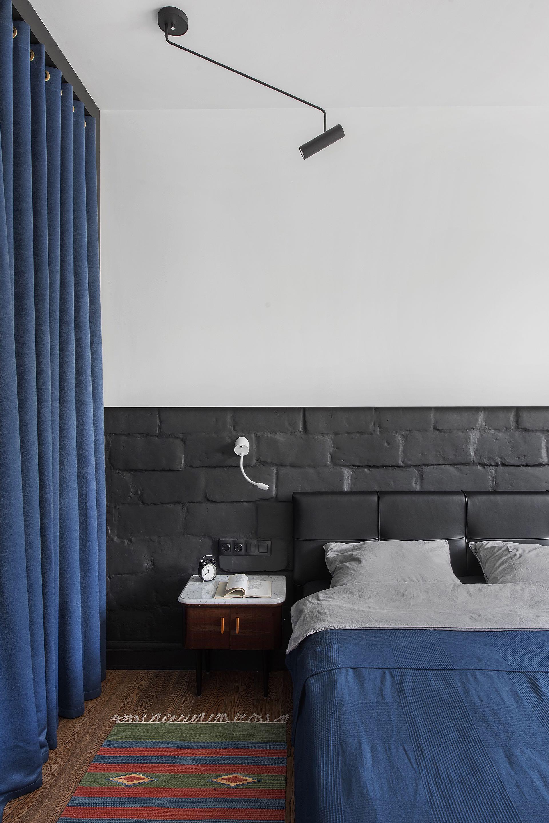 спальня кровать изголовье текстиль