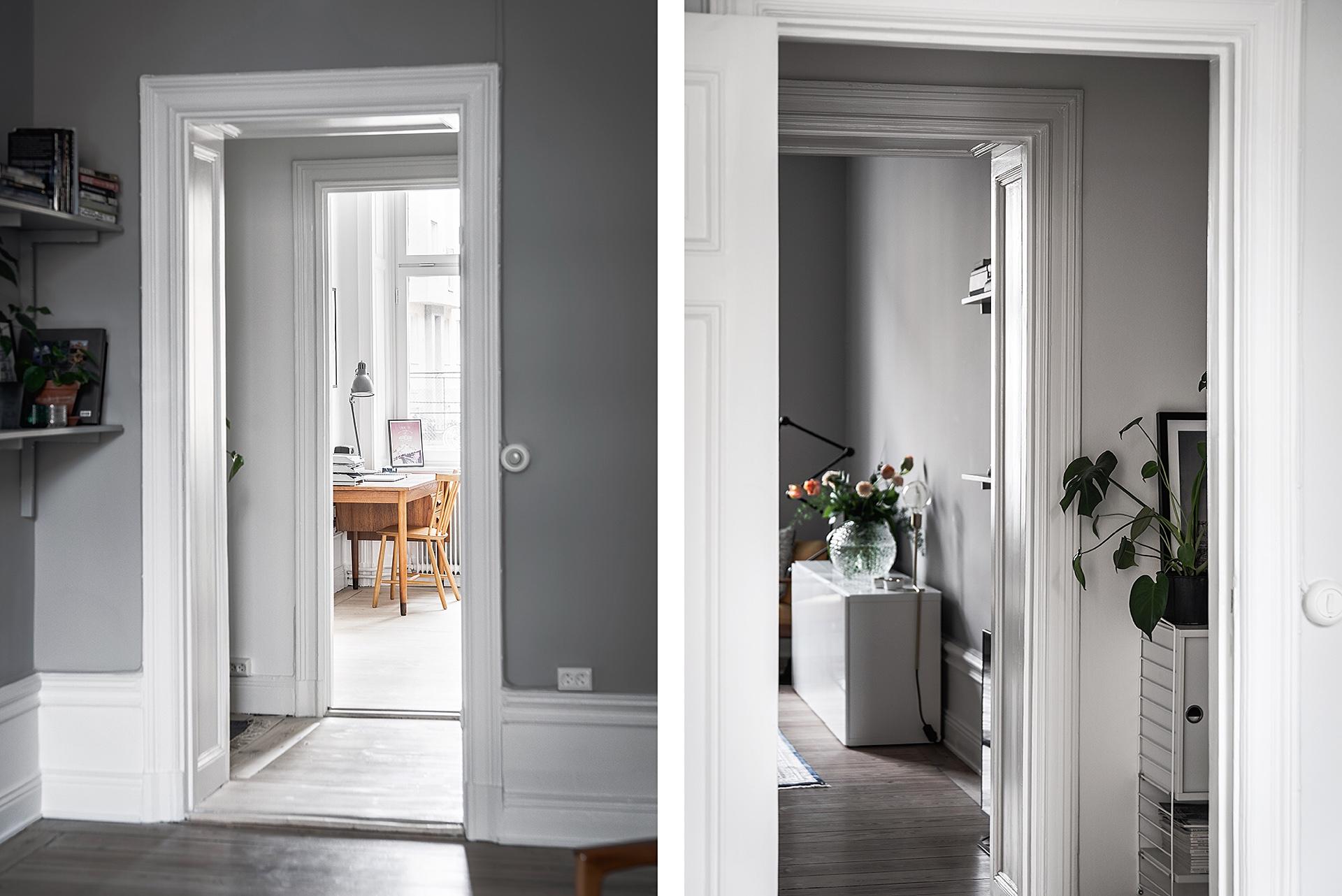 дверной проем наличники высокий белый плинтус