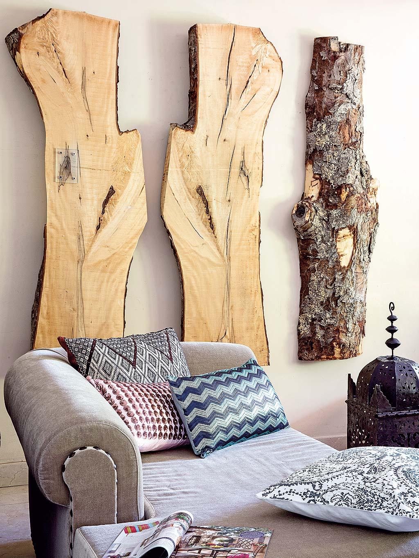 стена панно дерево