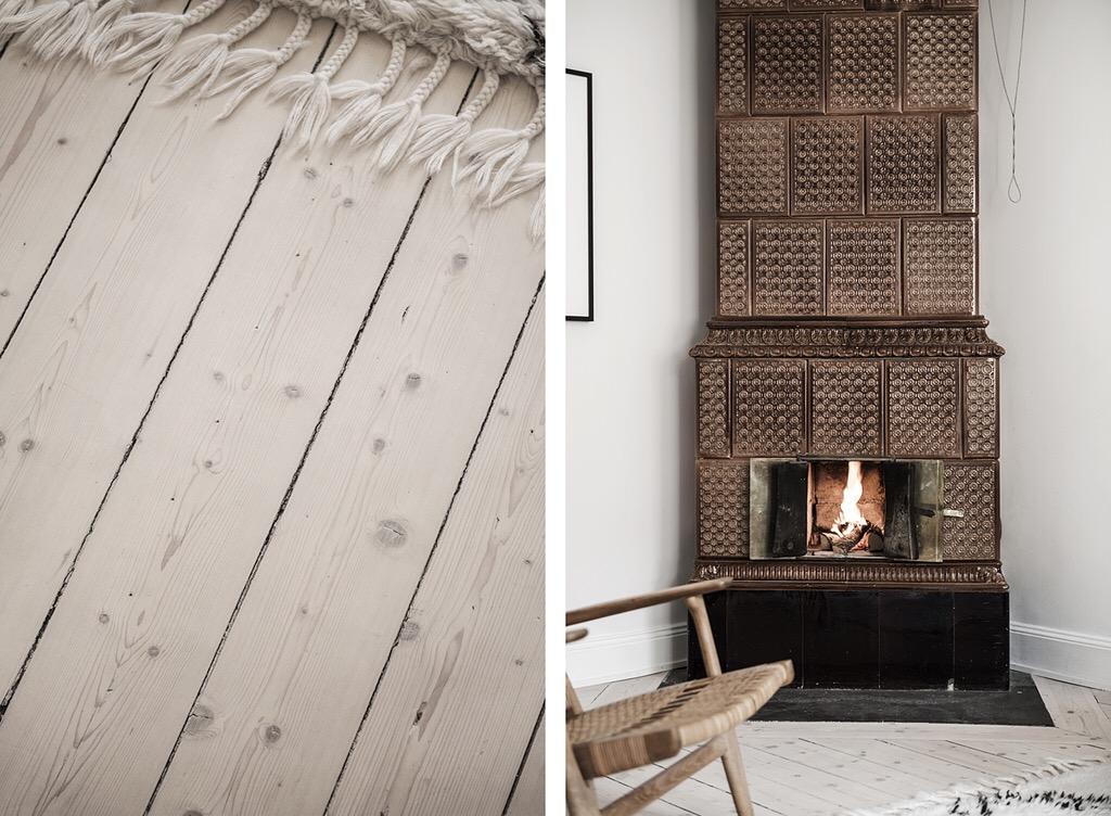 деревянный пол израсцовая печь