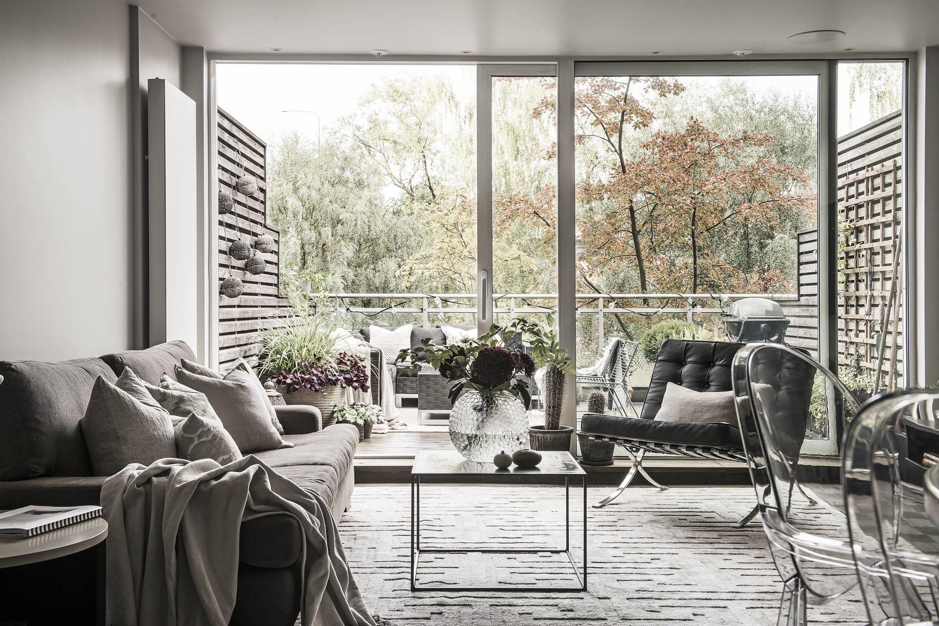 панорамное остекление балкон гостиная