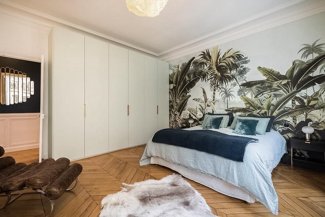 спальня шкаф паркет елочка