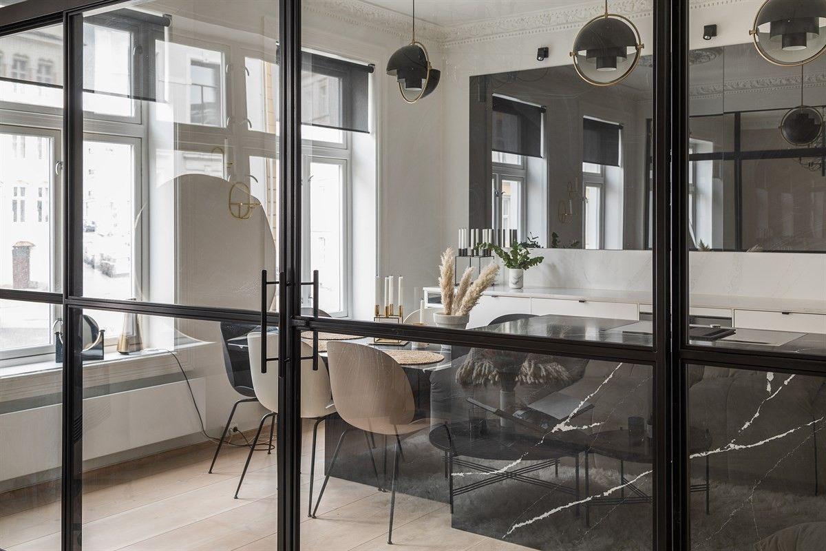 стеклянная перегородка кухня