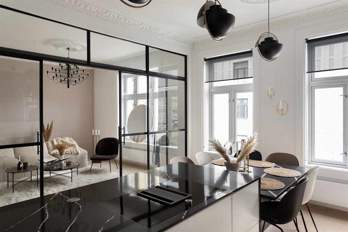 гостиная кухня столовая