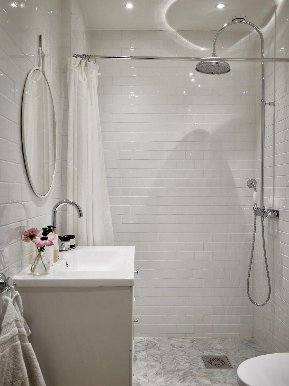 санузел душ раковина