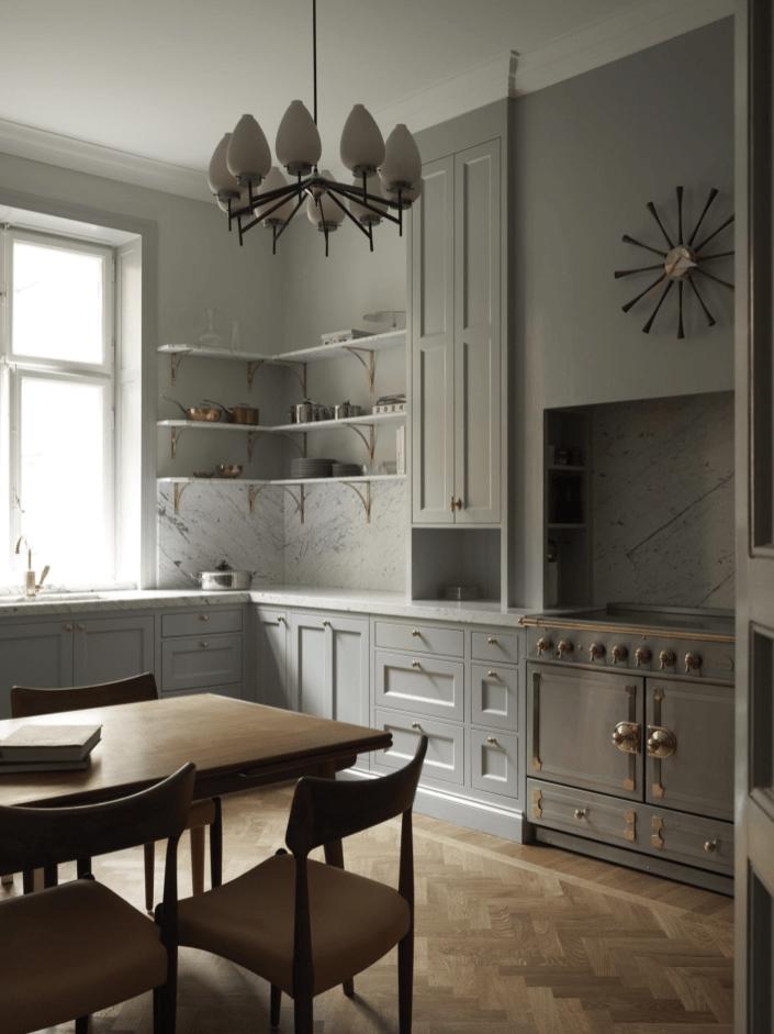 кухня мебель плита раковина окно