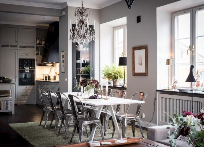 кухня столовая стол стулья