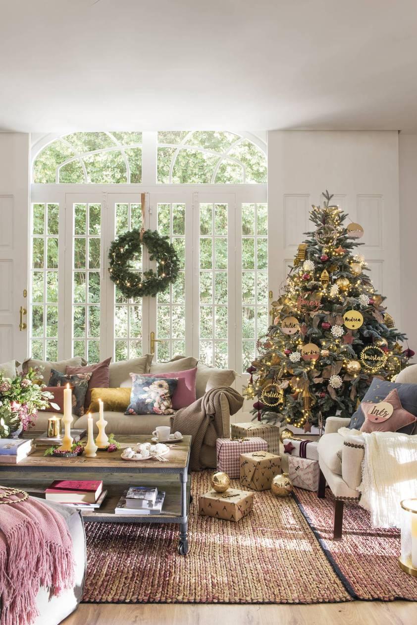 гостиная елка
