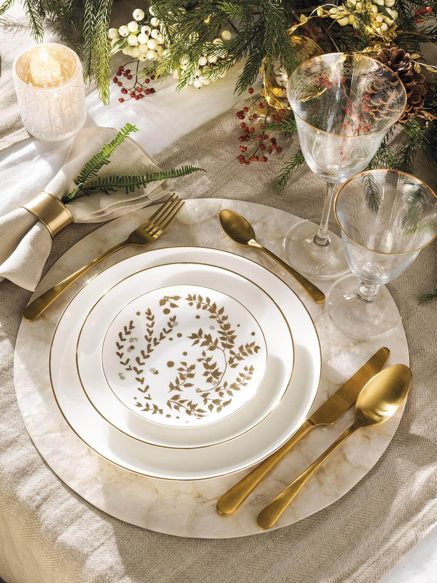 посуда новогодняя сервировка стола