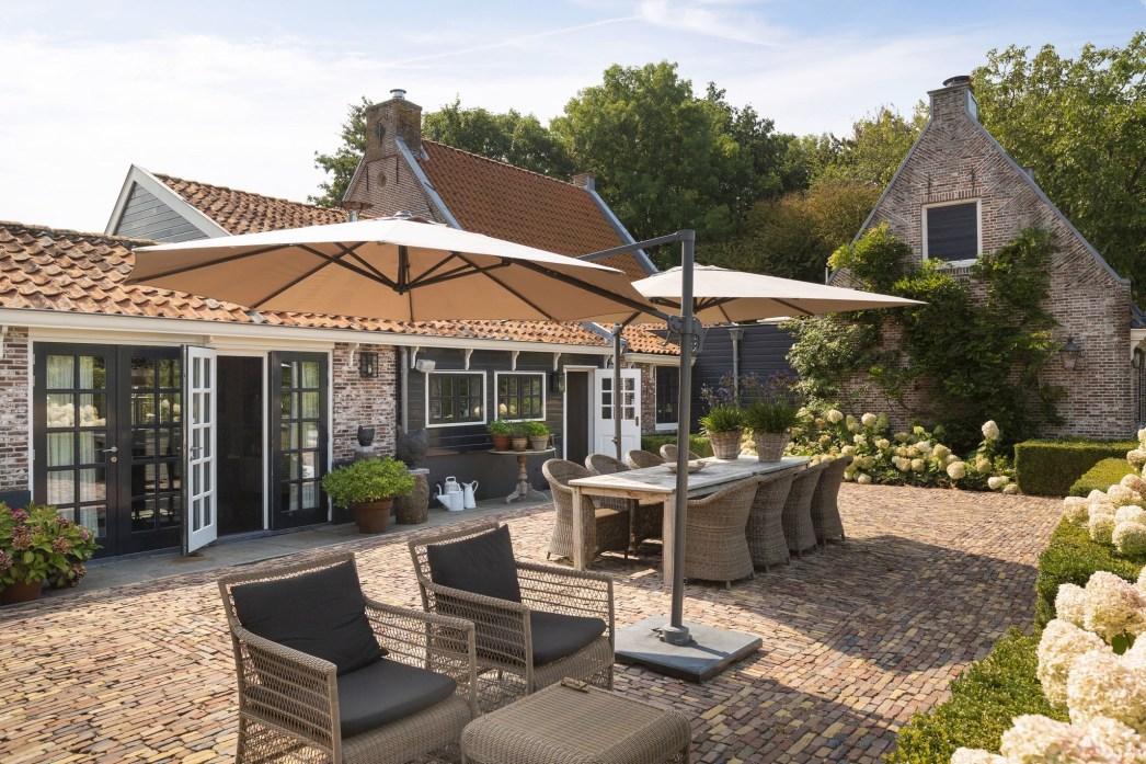 дом в нидерландах садовая мебель зонт