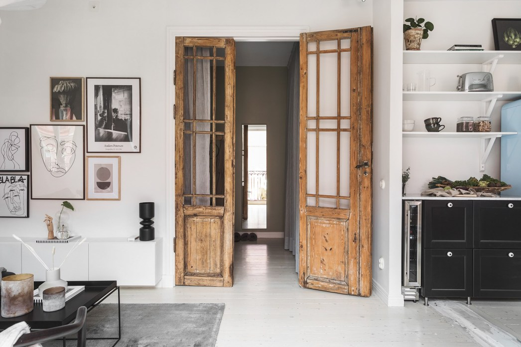 квартира 40 квм распашные двери