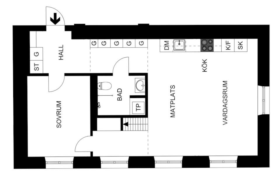 планировка квартира 75 квм 1