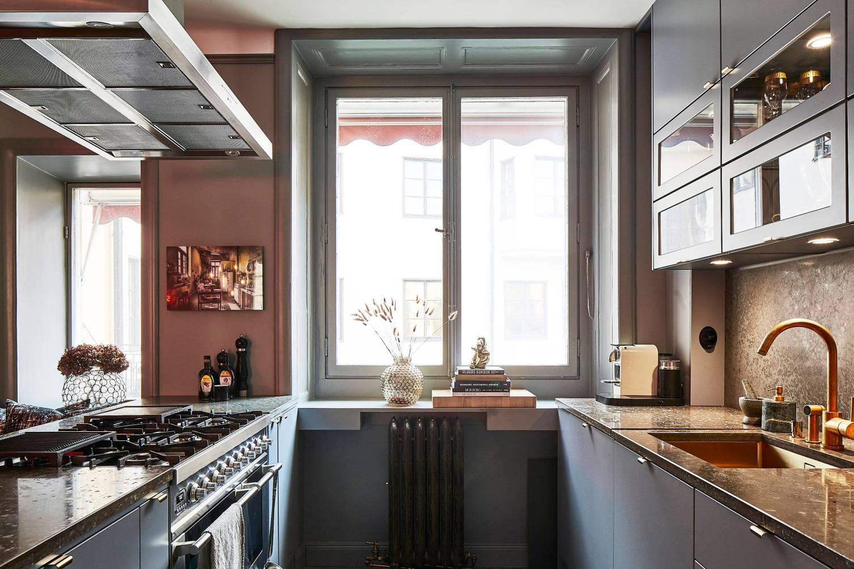 grey kitchen window