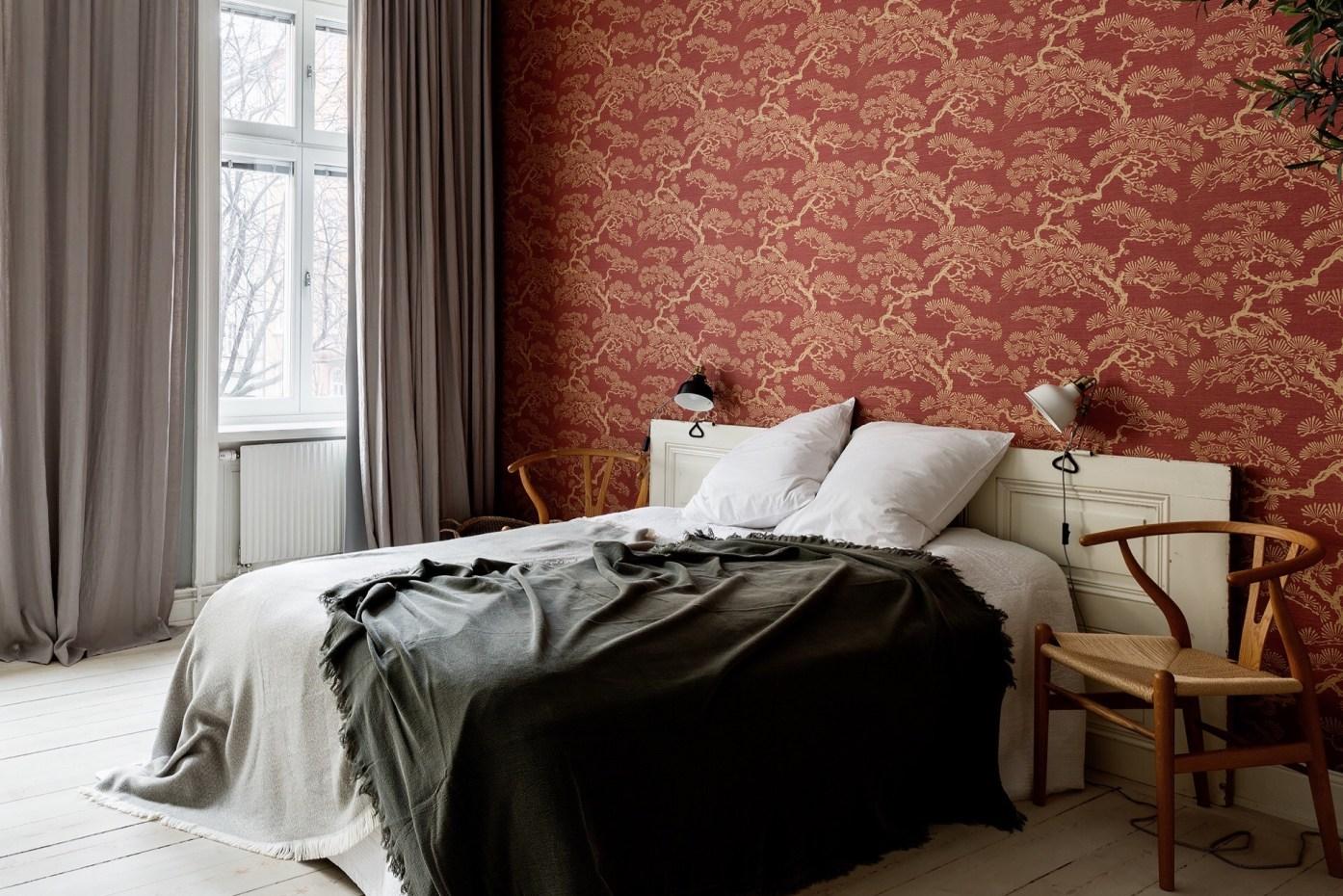 bedroom wallpaper wall