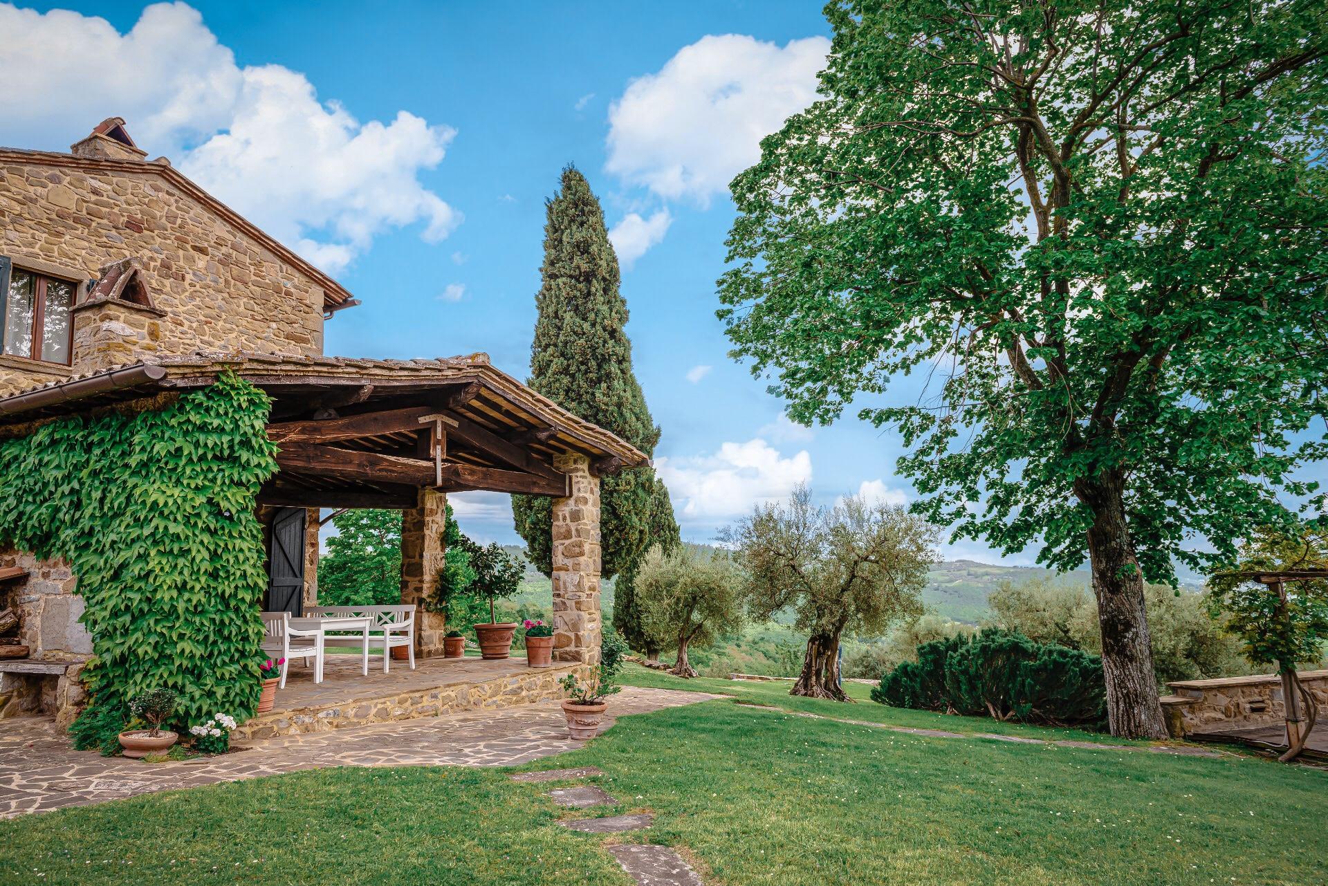stone house terrace