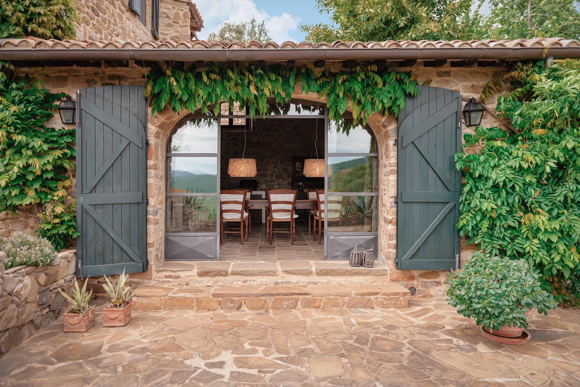 veranda wooden doors