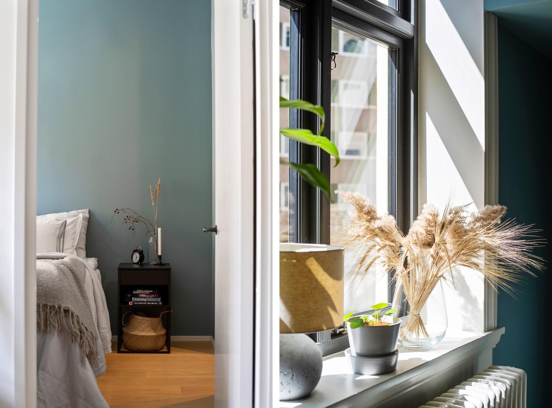 bedroom window sill