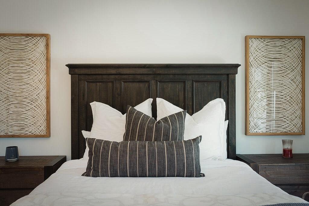 bedroom wood headboard