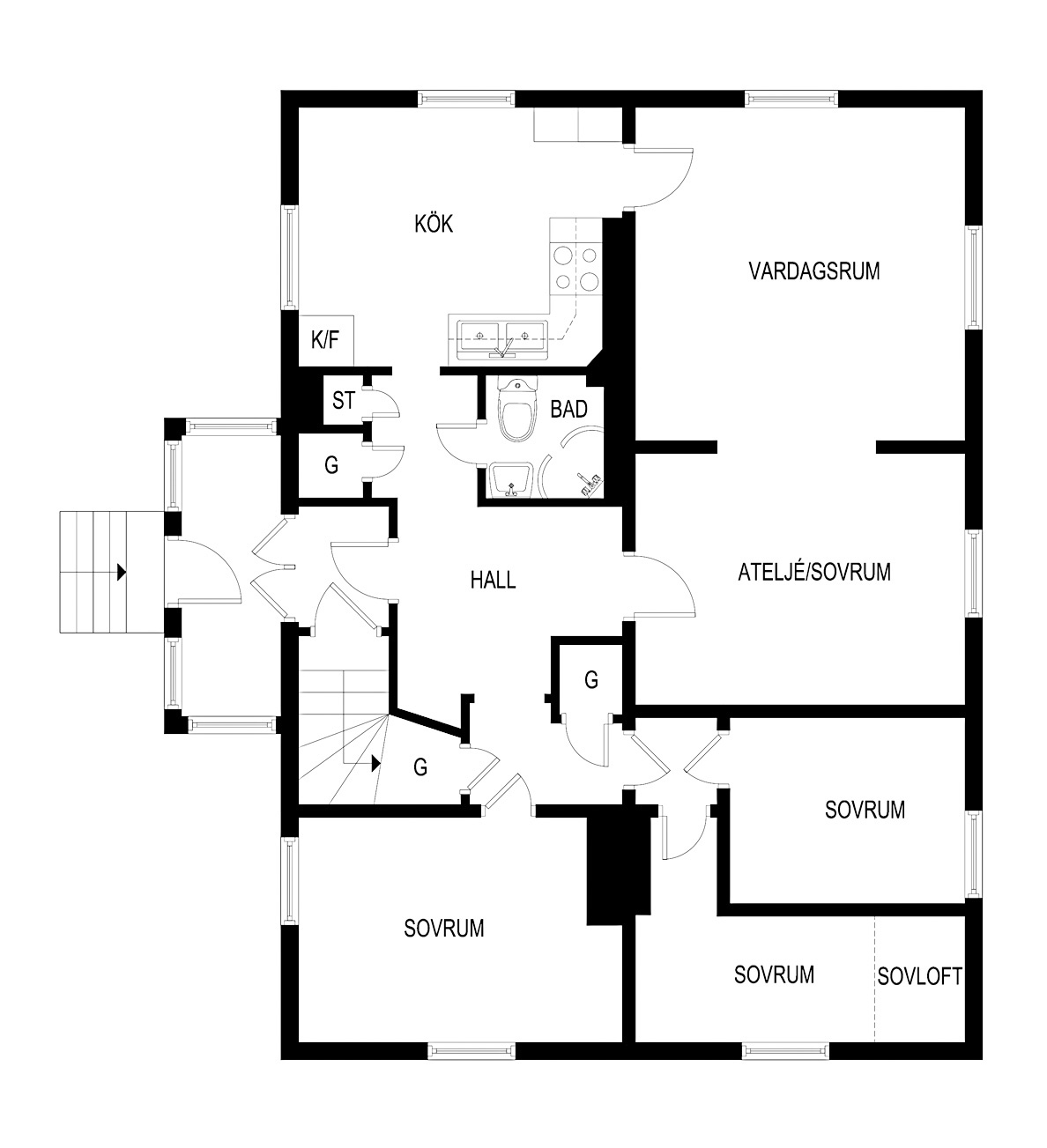 101 sqm floor plan
