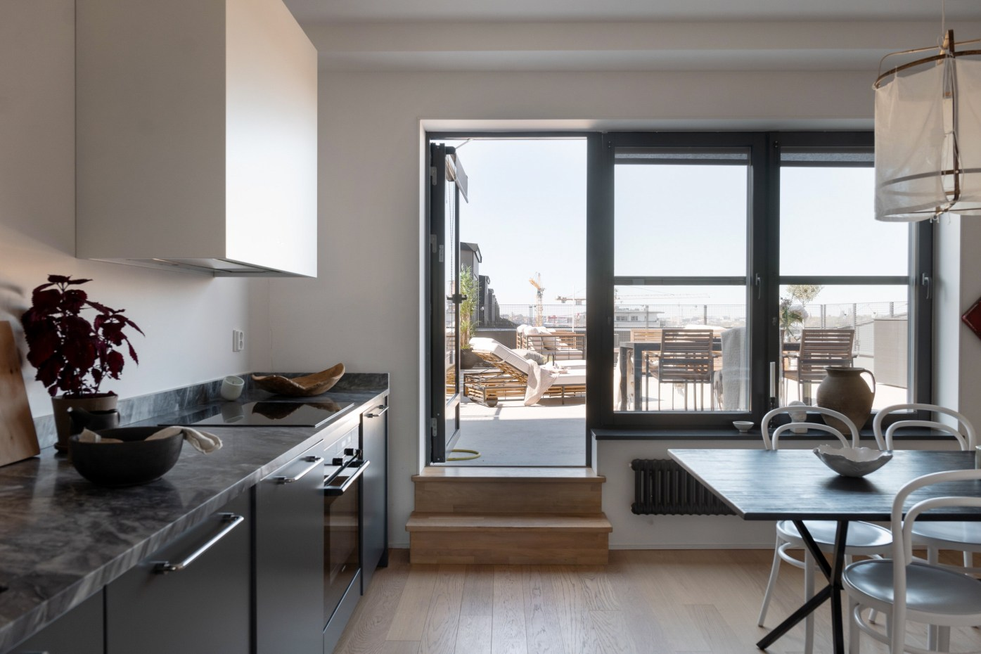 kitchen terrace door