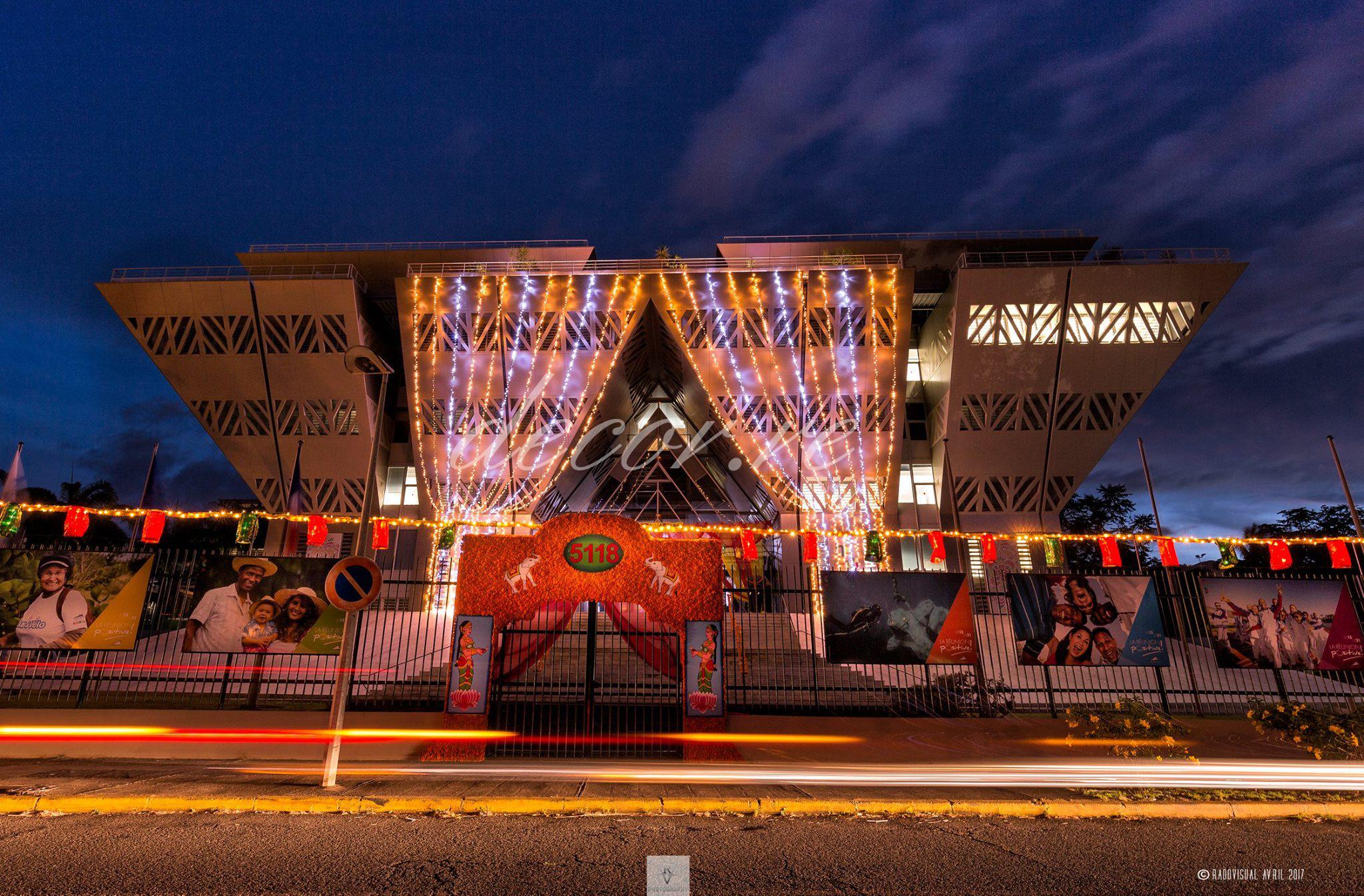 Nos rideaux lumineux à la Région Réunion