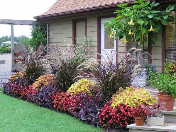 Beautiful landscaping for farmhouse