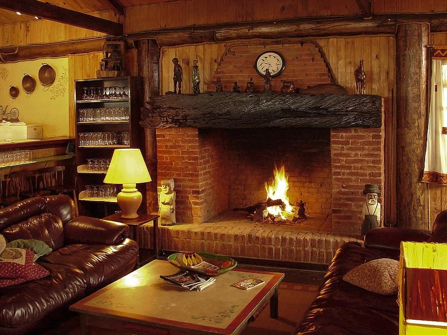 fireplace luggage fire firewood