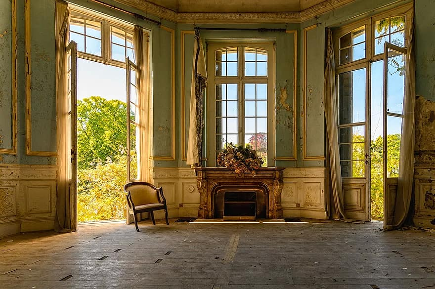 salon space room interior style lost places abandoned places architecture old