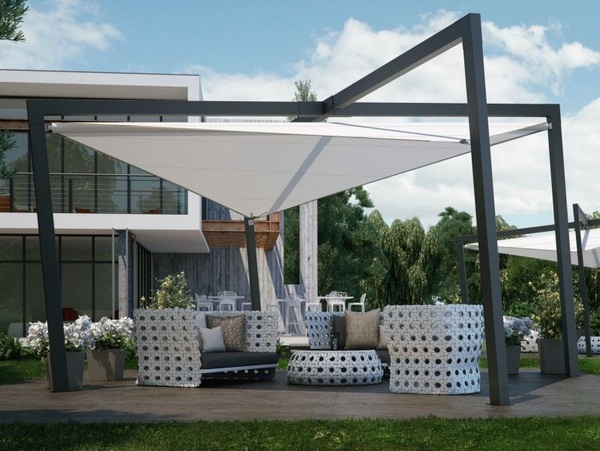 Sunscreen ideas awning roof of modern