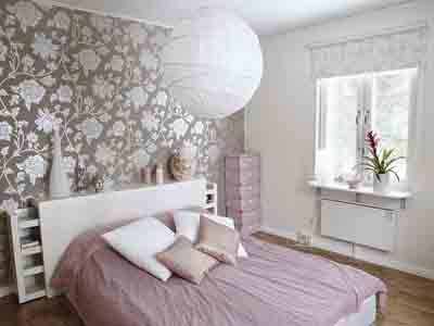 Bedroom Wallpaper In Black White And Gray One Wall